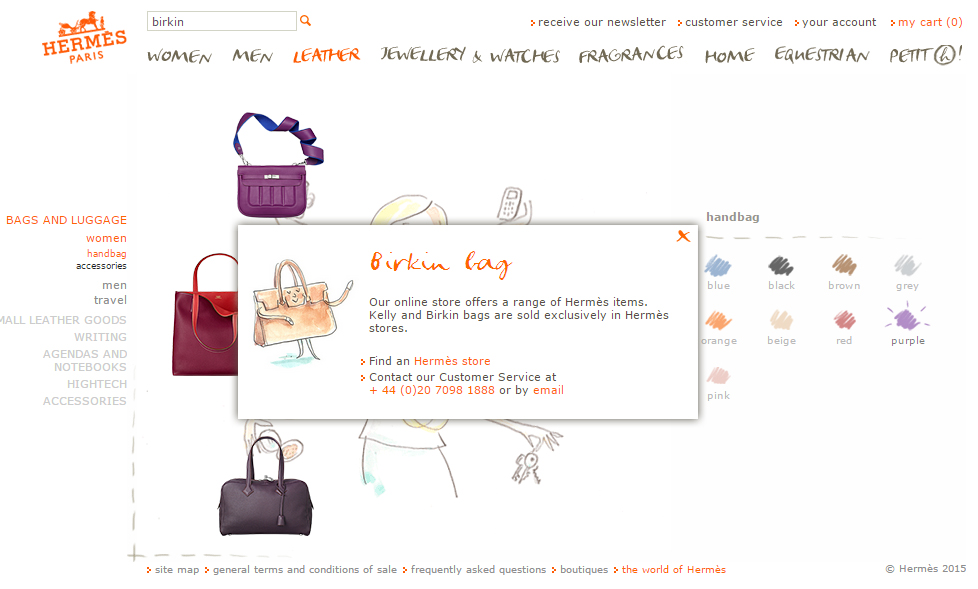 Luxury Brand E-Commerce Birkin