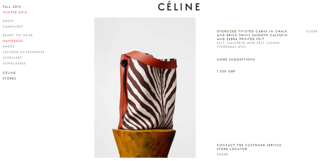 Luxury Brand E-Commerce Celine