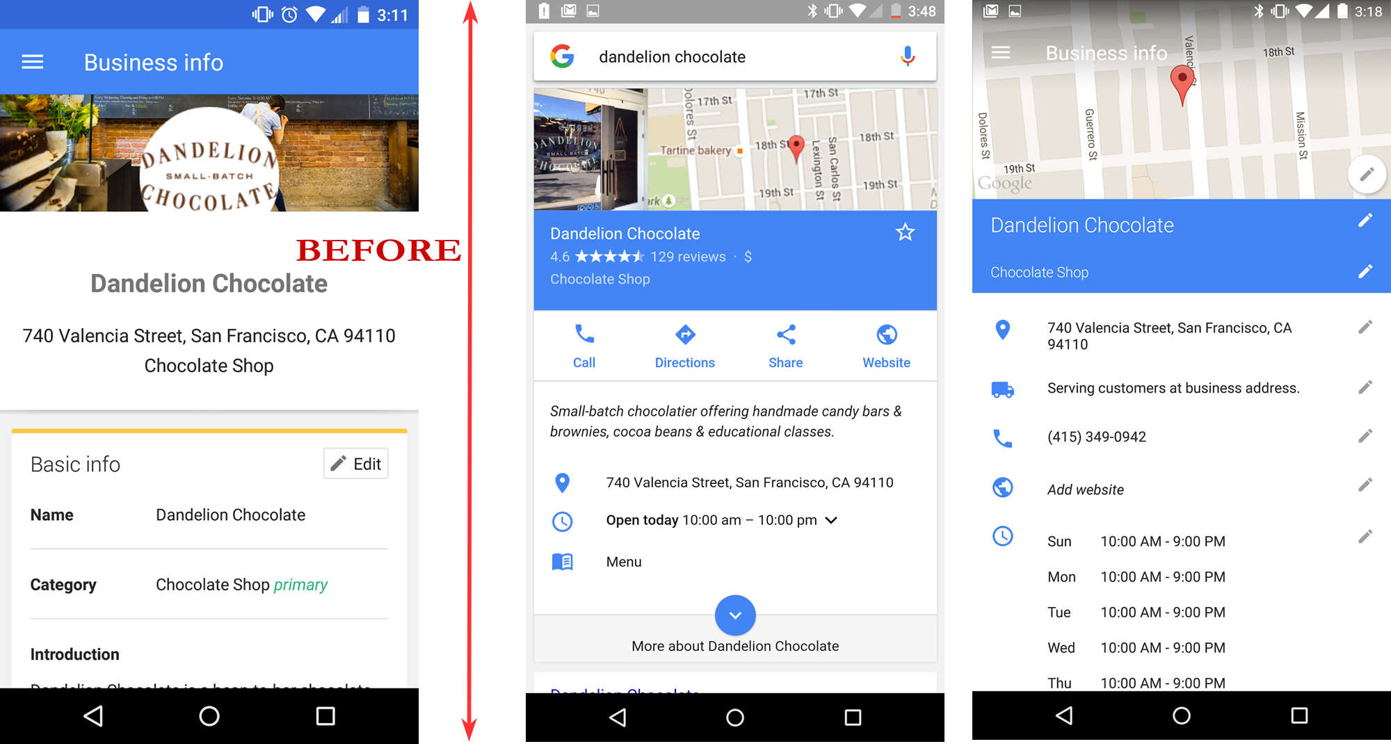 Google MY Business Mobile App Editor Update - Online Ownership