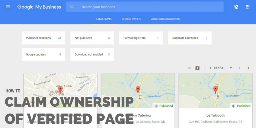 How to Claim Ownership of a Verified Google Business Page - Online