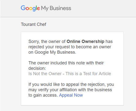 Response from Owner - Claim - Request Ownership of Business Listing - Online Ownership
