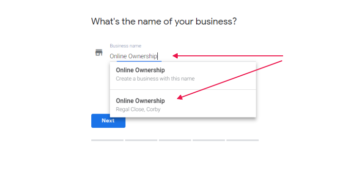 Search & Select Business - Claim - Request Ownership of Google Business Page - Online Ownership