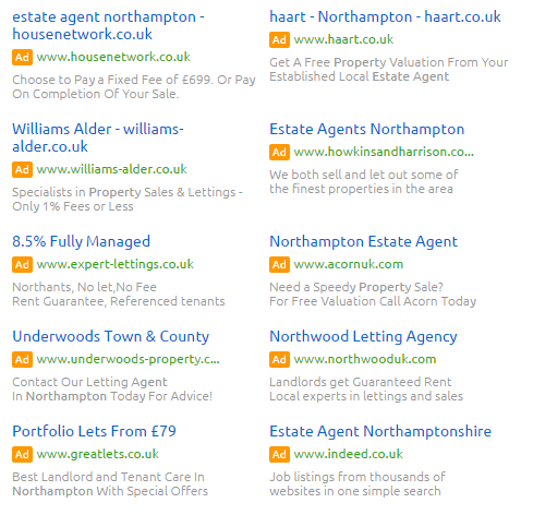 Estate Agents Location Extentions