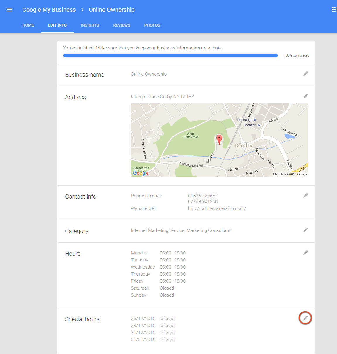 Set Special Hours for Google Business Page