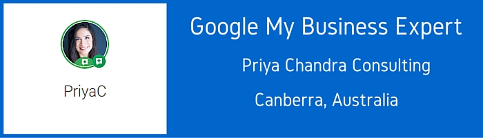 Google MY Business Expert - Priya Chandra