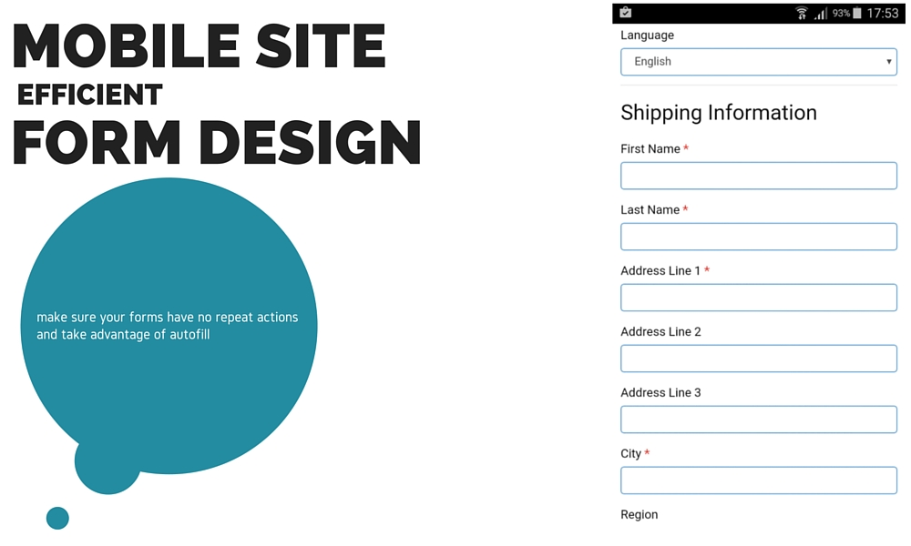Mobile Site Efficient Form Design Best Practice