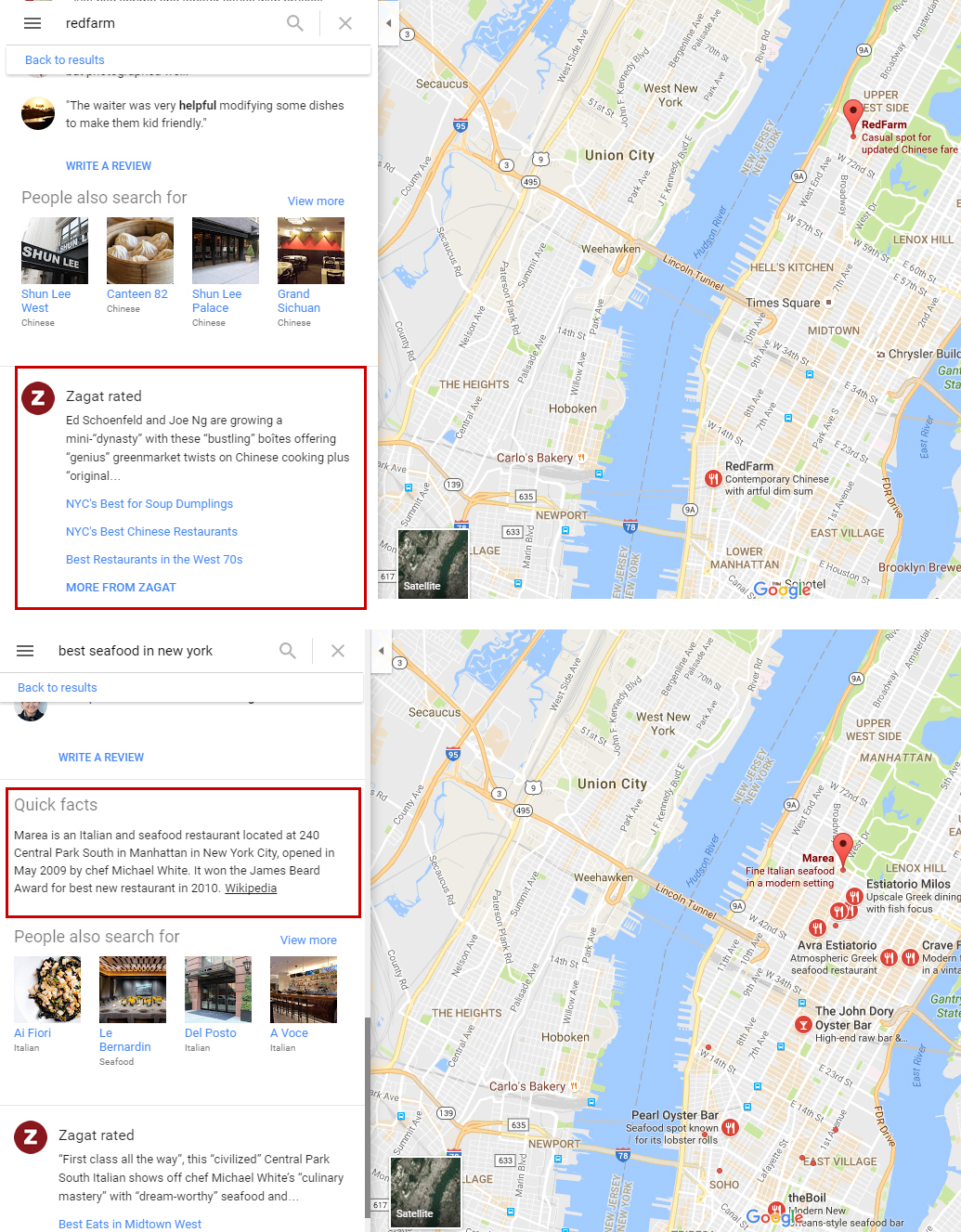 Critics Reviews on business in Google Maps