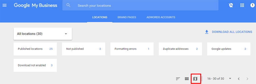 Google My Business Map View Feature