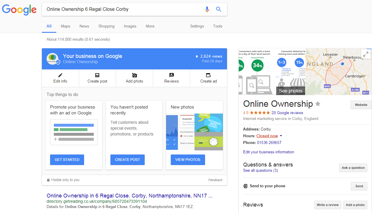 Your Business in Search Results - Online Ownership