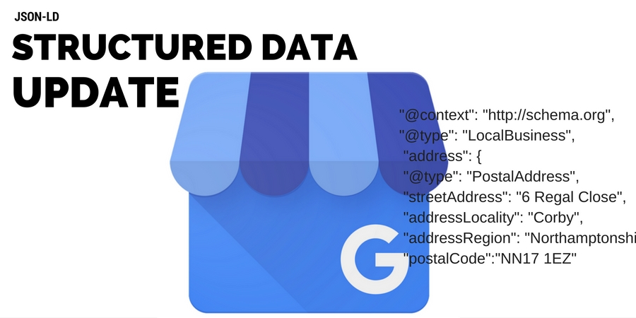 Structured Data Update for Local Business
