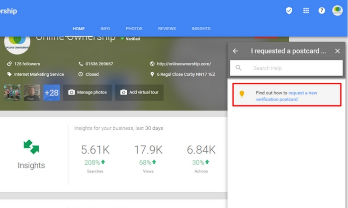 Contact Google Business Support- Step 5