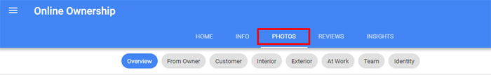 Photo section for Google Business Page