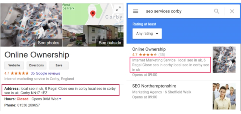Google My Business Address Spam - Online Ownership