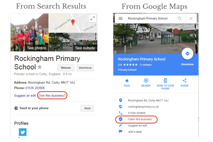 How to claim a google business listing with an old address