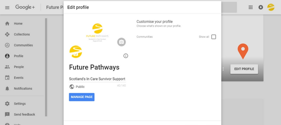 Edit your Google+ Business Page profile