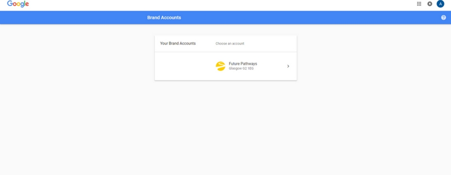 how to set up google brand page