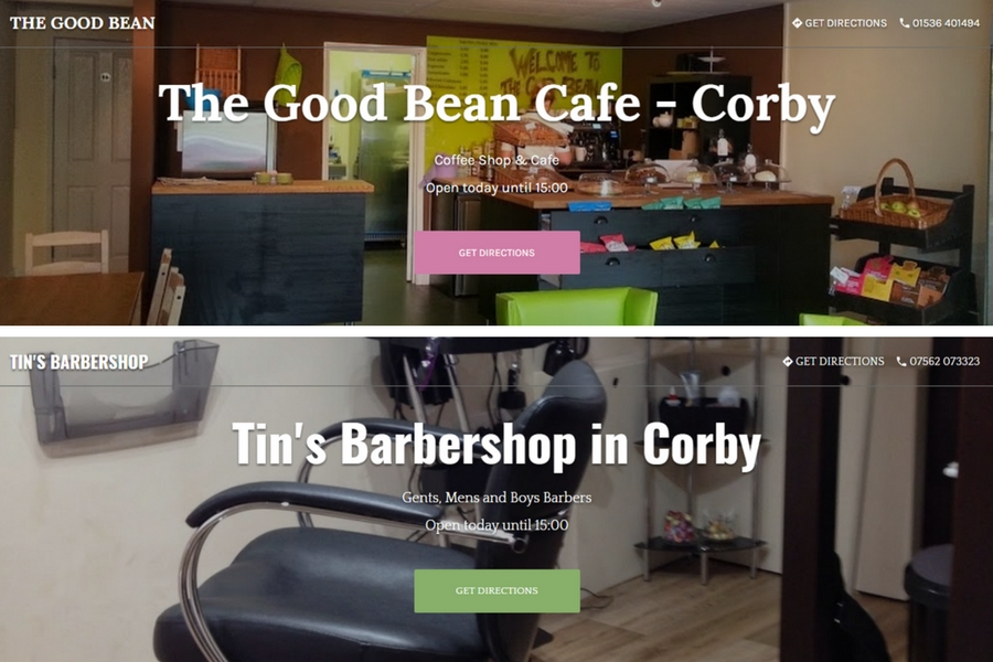 Corby Businesses Google Business Websites