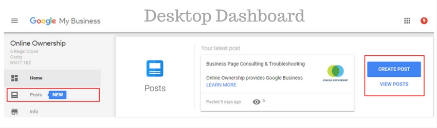 Create a Google Post in Google My Business Desktop