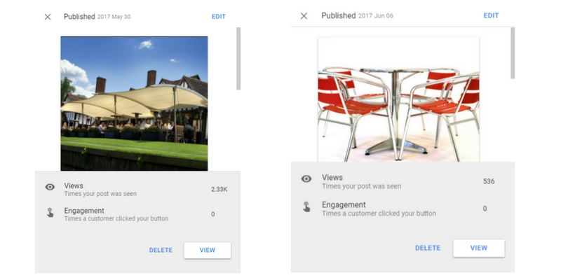 Google Posts Engagement and Insights