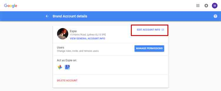 Google My Business Accounts Manage Options Broken - Online Ownership