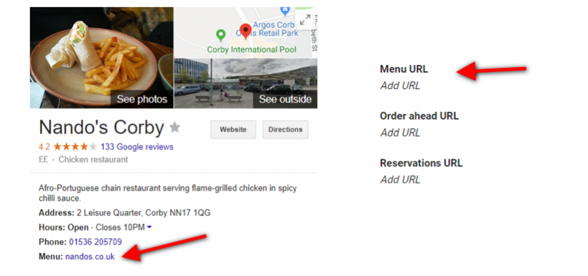 Adding a Restaurant Menu URL into the Google Business Listing - Online Ownership