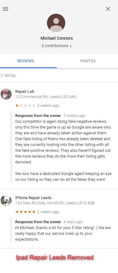 Fake Negative Google Reviews - Online Ownership