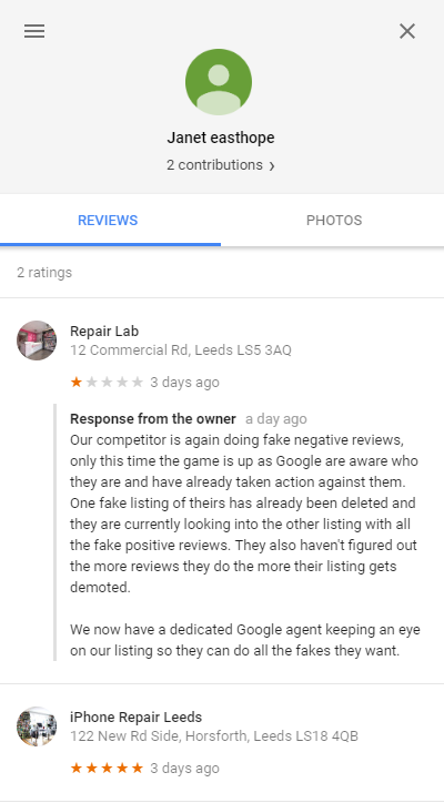Fake and Malicious Google Reviews - Online Ownership