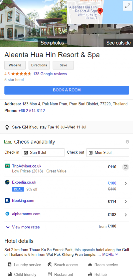 Hotels Google Business Listing - Online Ownership