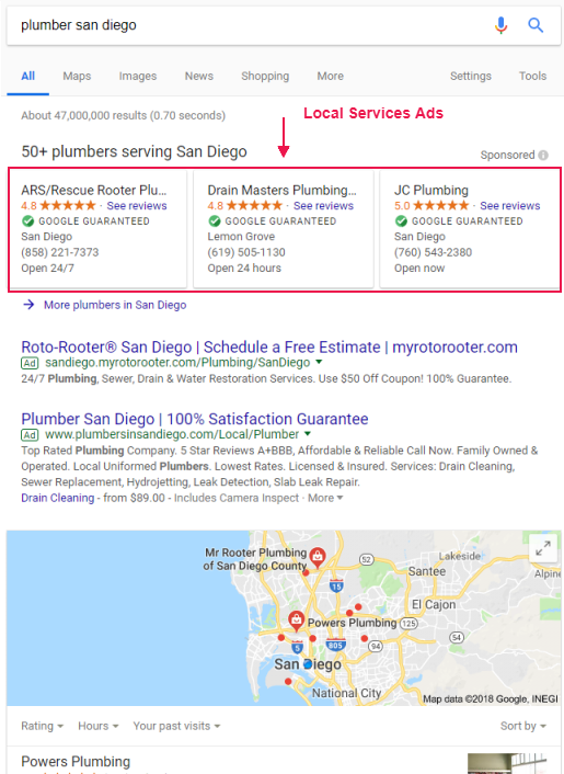 Google Local Services Ads in Search Results - Online Ownership