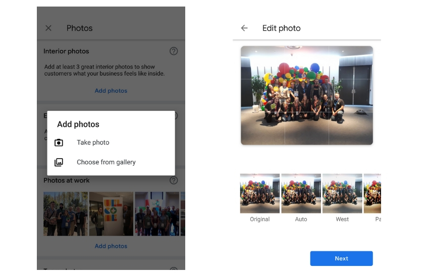 New Google My Business App Photos - Add Photo to Business - Online Ownership