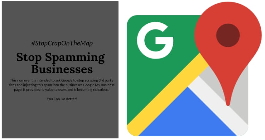 Stop Spamming Businesses Google - #StopCrapOnTheMap - Online Ownership