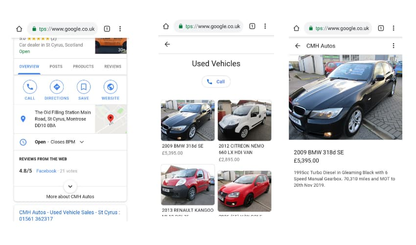 Product Inventory Displayed in Mobile Search results - Online Ownership
