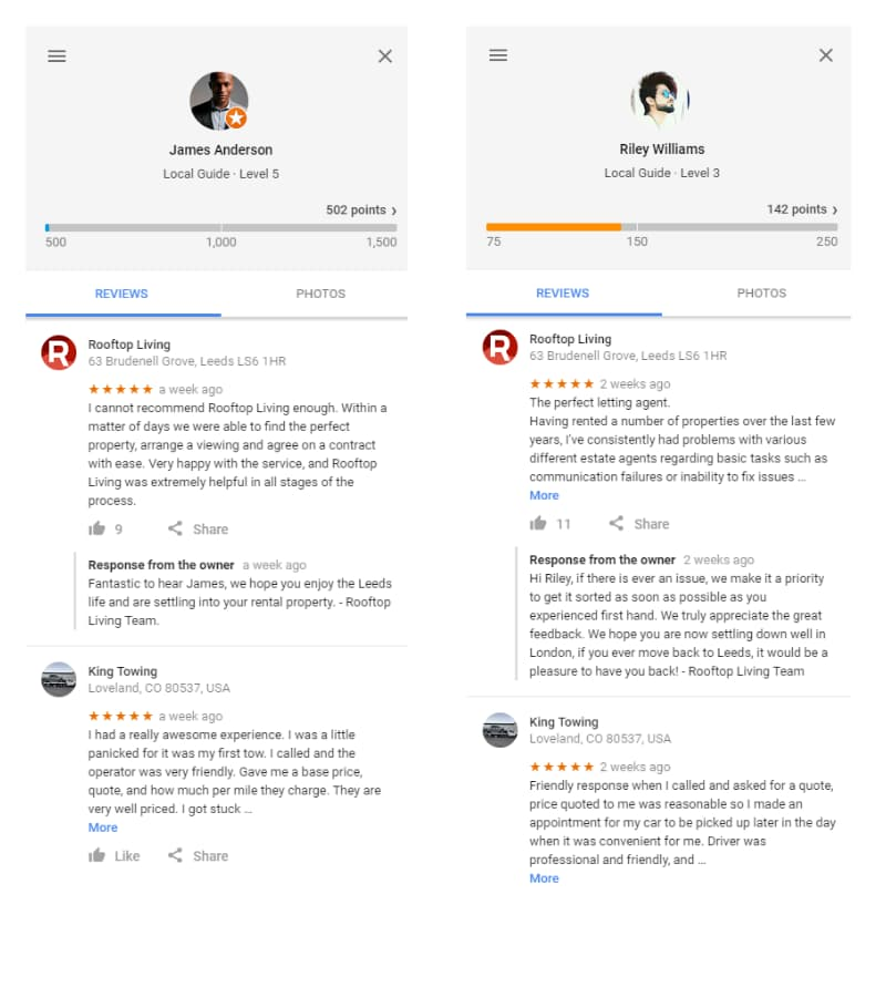 Rooftop Living in Leeds Fake Reviews - Online Ownership