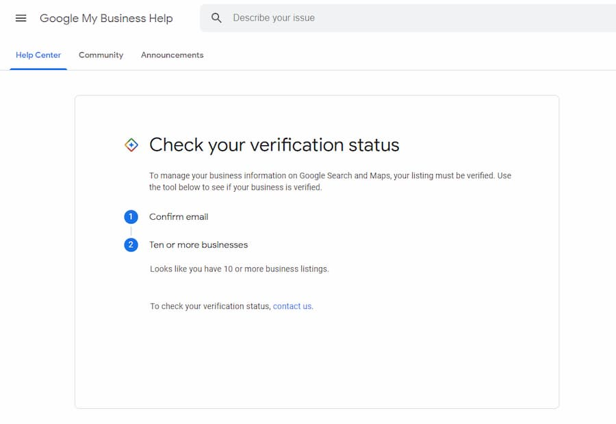 Muliple Business Verification Tool Check for Multiple Locations - Online Ownership